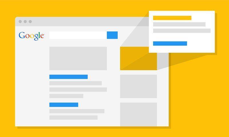 Схематическое изображение контекстной рекламы в Google