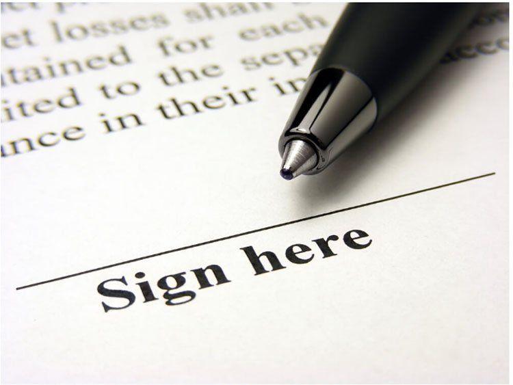 Подписание договора с поставщиками