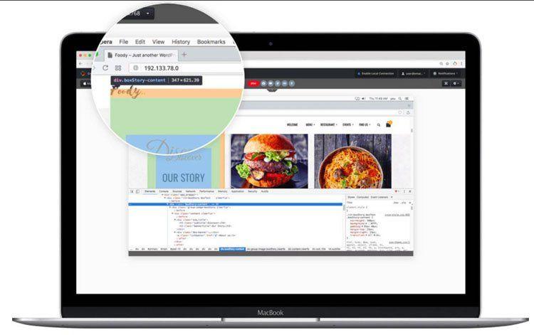 Пример адаптивного дизайна сайта