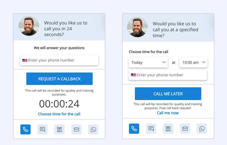Обратный звонок, покупка в один клик и другие виджеты, которые привлекают внимание клиентов