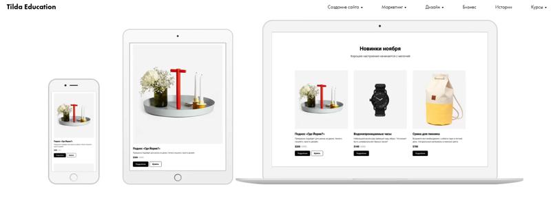 Создаем мини интернет-магазин на Tilda: плюсы и минусы